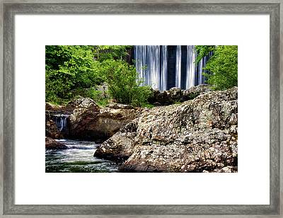 Shady Lake Falls Framed Print by Lana Trussell