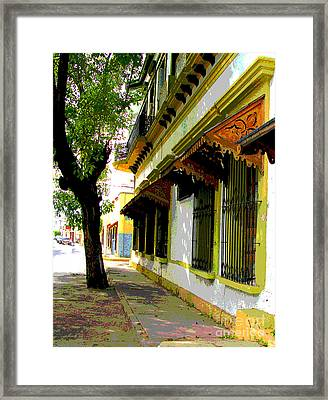 Shady Street By Darian Day Framed Print by Mexicolors Art Photography