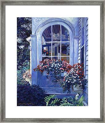 Shady Window Boxes Framed Print by David Lloyd Glover