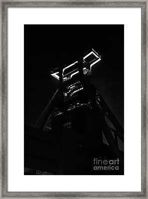 Shaft Tower Zeche Zollverein Framed Print by Joerg Lingnau