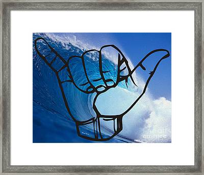 Shaka Framed Print by Cheryl Young