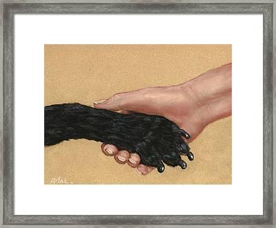Shake Hands  Framed Print by Anastasiya Malakhova