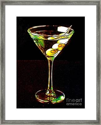 Shaken Not Stirred Framed Print by Wingsdomain Art and Photography