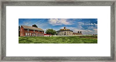 Shaker Pastoral Panorama Framed Print by Stephen Stookey