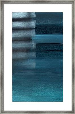 Shallow- Abstract Art By Linda Woods Framed Print by Linda Woods