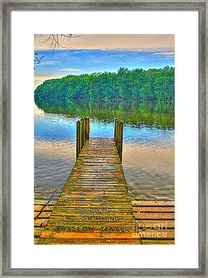 Shallow Water Framed Print by Robert Pearson