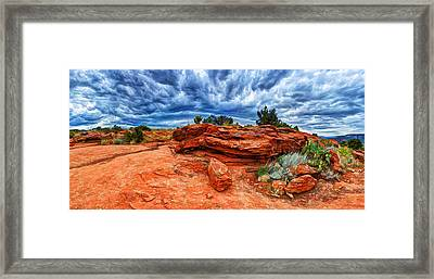 Desert Storm Framed Print by Bill Caldwell -        ABeautifulSky Photography