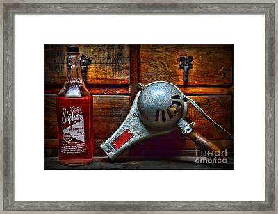 Shampoo And Blow Dry Framed Print by Paul Ward