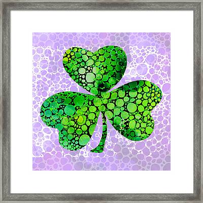 Shamrock Art By Sharon Cummings Framed Print by Sharon Cummings