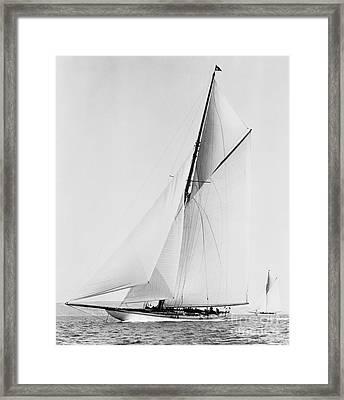 Shamrock IIi 1903 Bw Framed Print by Padre Art