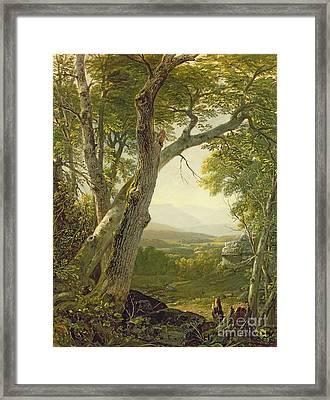 Shandaken Ridge - Kingston Framed Print by Asher Brown Durand