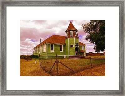 Shaniko School District Sixty Seven Framed Print by Jeff Swan