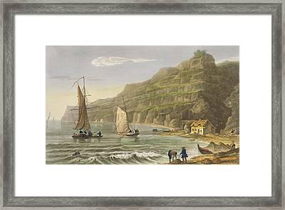 Shanklin Bay Framed Print by Frederick Calvert