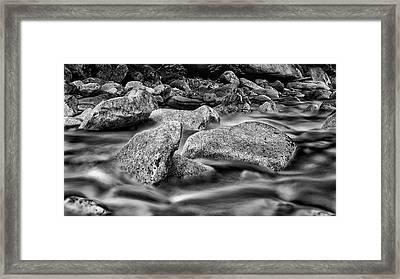 Shannon Creek -bw Framed Print by Stephen Stookey