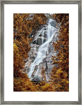 Shannon Falls - Indian Summer Framed Print by Stephen Stookey