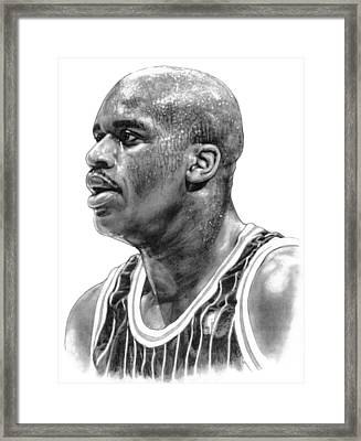 Shaq O'neal Framed Print by Harry West