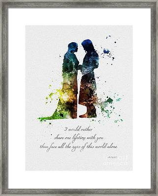 Share One Lifetime Framed Print by Rebecca Jenkins