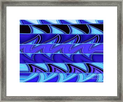 Shark Fins Framed Print by Ann Johndro-Collins