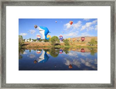 Shark In The Water Framed Print by Donna Kennedy