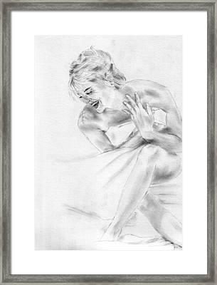 Sharon Stone Framed Print by Jessica Rose