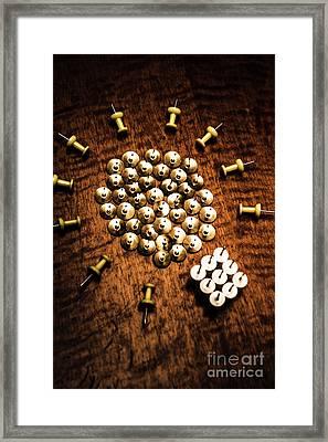 Sharp Business Idea Framed Print by Jorgo Photography - Wall Art Gallery