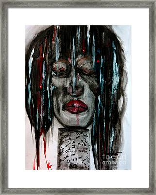 Shattered Pieces  Framed Print by Lori  Lovetere