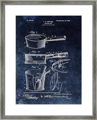 Shaving Cup Barber Patent Framed Print by Dan Sproul