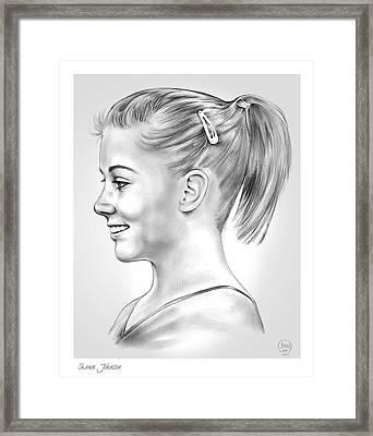 Shawn Johnson Framed Print by Greg Joens