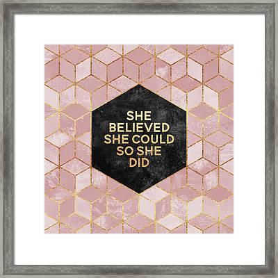 She Believed She Could Framed Print by Elisabeth Fredriksson