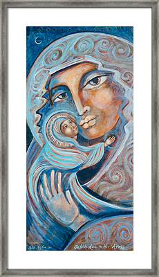 She Holds Love In Her Arms Framed Print by Shiloh Sophia McCloud