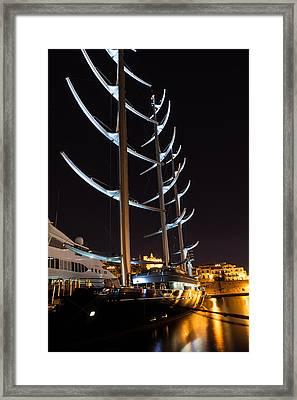 She Is So Special - The Luxurious Maltese Falcon Superyacht Framed Print by Georgia Mizuleva