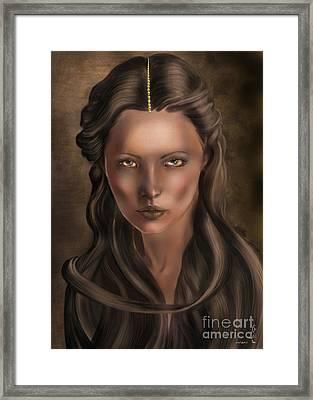 She... Lilit... Framed Print by Gabriela Tasiro