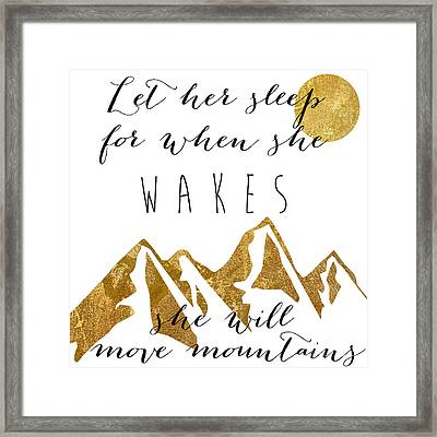 She Moves Mountains Framed Print by Mindy Sommers