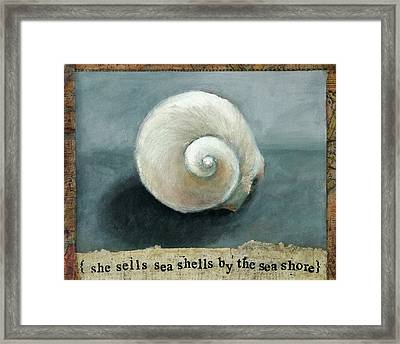 She Sells Sea Shells Framed Print by Katherine DuBose Fuerst