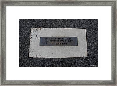 Shea Stadium Pitchers Mound Framed Print by Rob Hans
