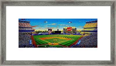 Shea Stadium Framed Print by T Kolendera