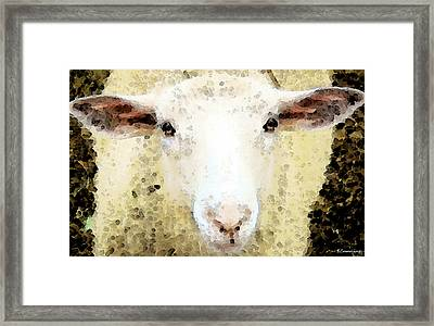 Sheep Art - Ewe Rang Framed Print by Sharon Cummings