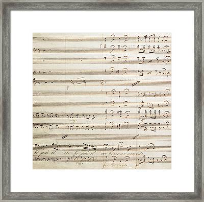 Sheet Music For The Barber Of Seville By Rossini  Framed Print by Gioachino Rossini