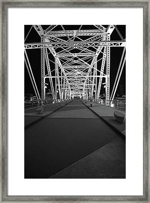 Shelby Bridge Bw Framed Print by Dylan Punke
