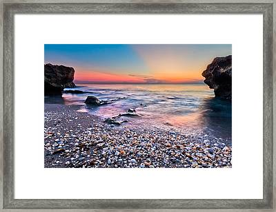 Shell City Framed Print by Debra and Dave Vanderlaan