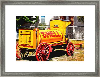 Shell Oil Company Framed Print by Barbara Snyder