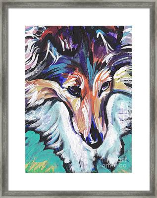 Sheltie Luv Framed Print by Lea S