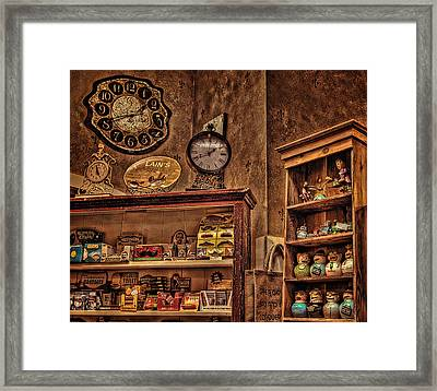 Shelves Of Nostalgia Framed Print by Thom Zehrfeld