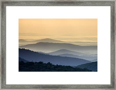 Shenandoah National Park Mountain Scene Framed Print by Brendan Reals