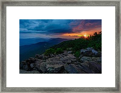 Shenandoah Sunrise Framed Print by Rick Berk