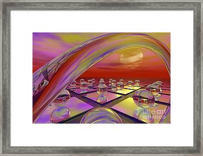 Sherbet And Glass Framed Print by Sandra Bauser Digital Art