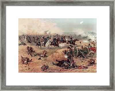 Sheridans Ride, Battle Of Cedar Creek Framed Print by Science Source