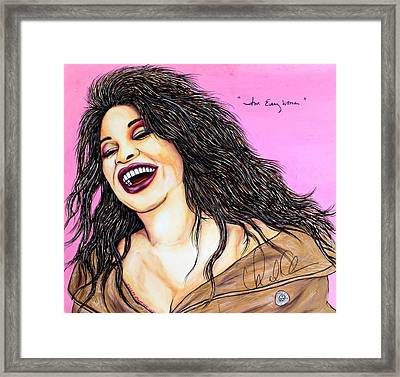 She's Every Woman Framed Print by Joseph Lawrence Vasile