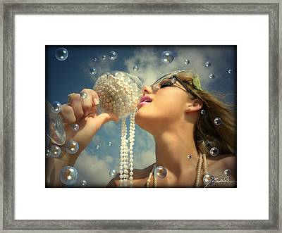 She's So Bubbly Framed Print by Melissa Wyatt