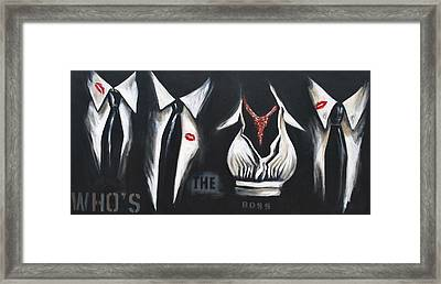 She's The Boss Framed Print by Lori McPhee